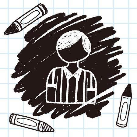 referee doodle Illustration