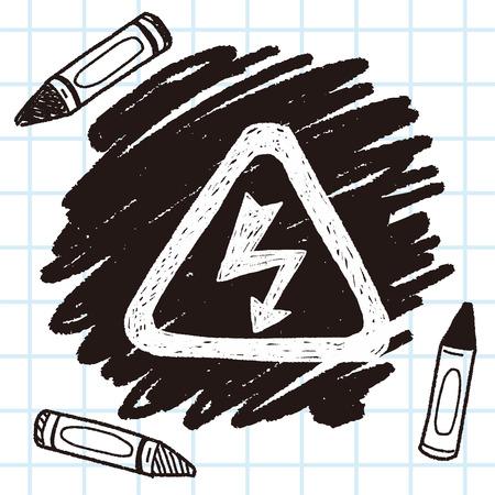 high voltage symbol: High Voltage sign doodle Illustration