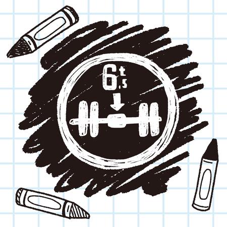 maximum: Maximum weight per axle. doodle Illustration