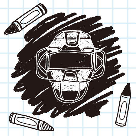 major league: baseball catcher doodle