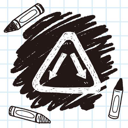 Fork sign doodle