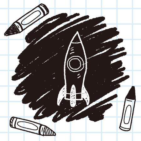 Raumschiff doodle
