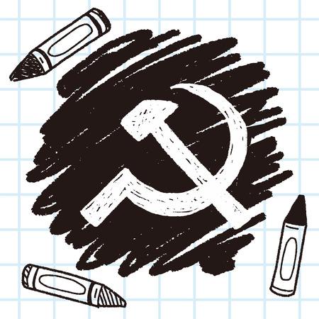 sickle hammer doodle