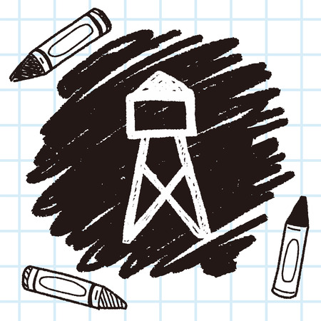 industrial drawing: Transmission tower doodle