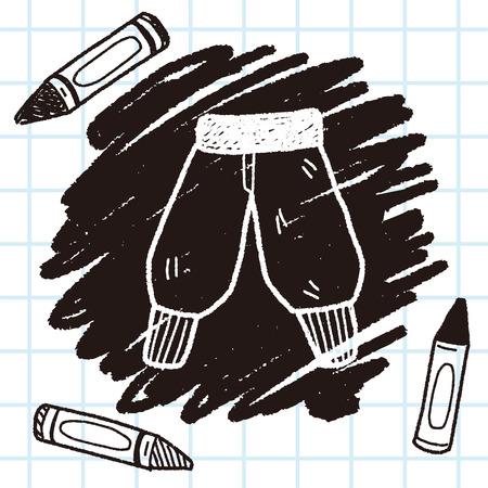 pant: pant doodle Illustration