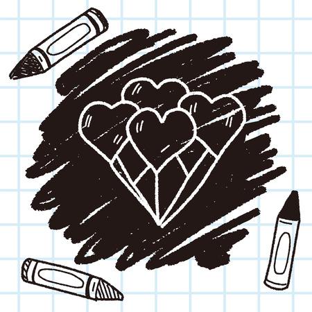 heart balloon: heart balloon doodle