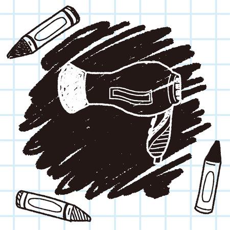 dryer: hair dryer doodle Illustration