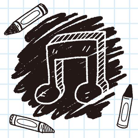 music note doodle Illustration