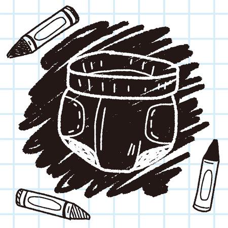 diaper doodle Illustration