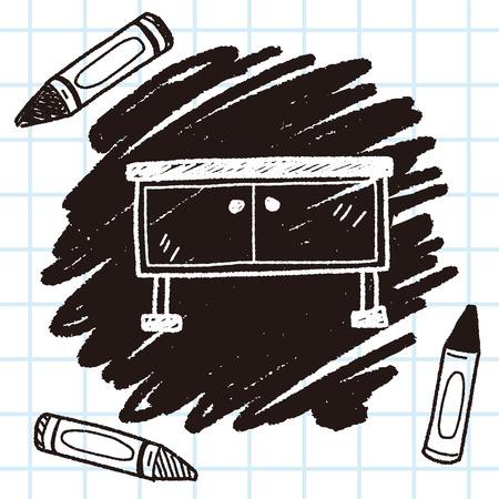 cabinet doodle Illustration