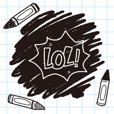 laugh out loud: lol doodle Illustration