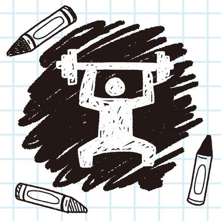 levantamiento de pesas: doodle de levantamiento de pesas Vectores