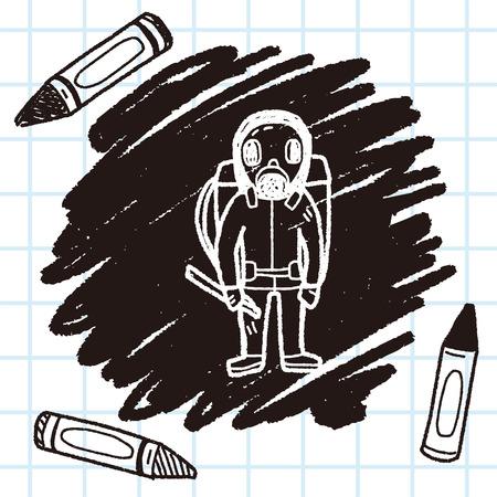 gas mask doodle