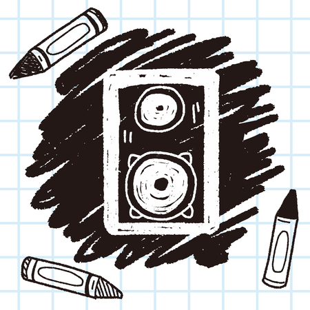 speakers: speaker doodle Illustration