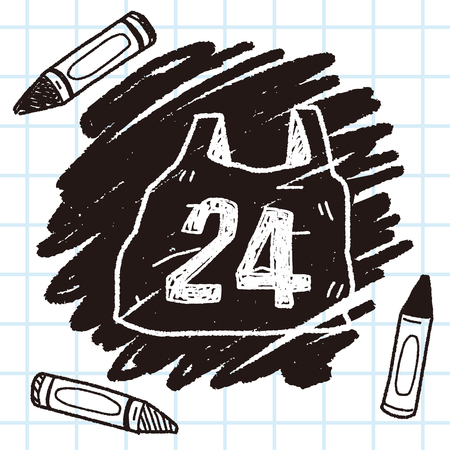 24 winkelen doodle Vector Illustratie