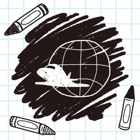 airplane: airplane doodle Illustration