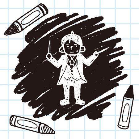 conductor: conductor doodle Illustration