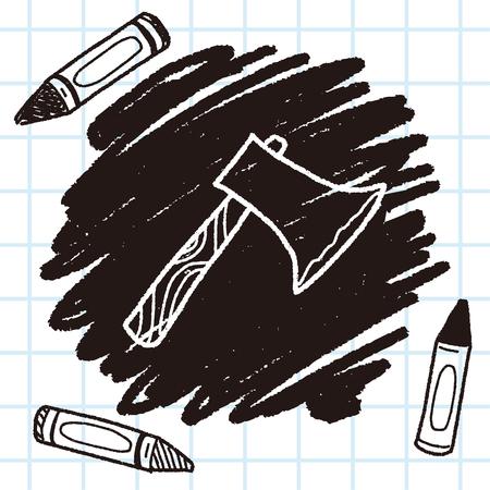 ax: ax doodle Illustration
