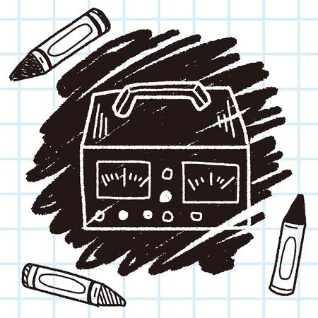doodle del medidor de electricidad