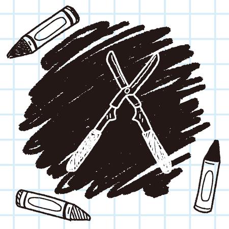 pruner: scissor doodle