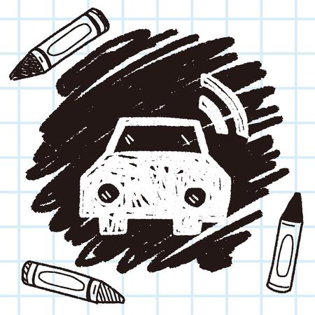 car wifi doodle Illustration