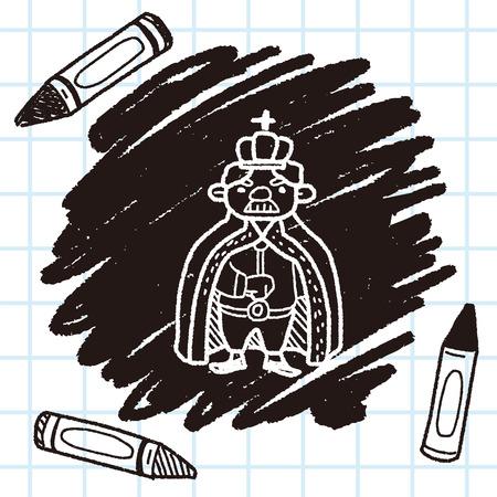 king doodle Illustration
