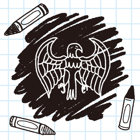 eagle: eagle doodle Illustration