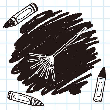 broom handle: rake doodle