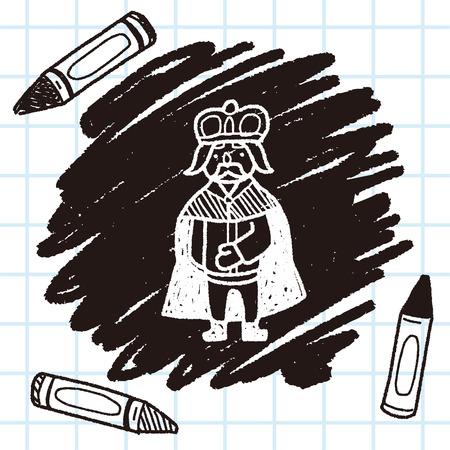 scepter: king doodle Illustration