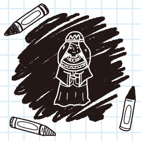 queen doodle Illustration