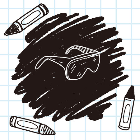 protective: Protective glasses doodle