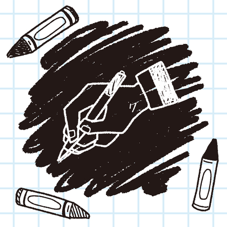 signing papers: write doodle