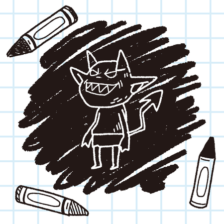 devil doodle Illustration