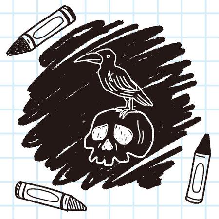 skull doodle