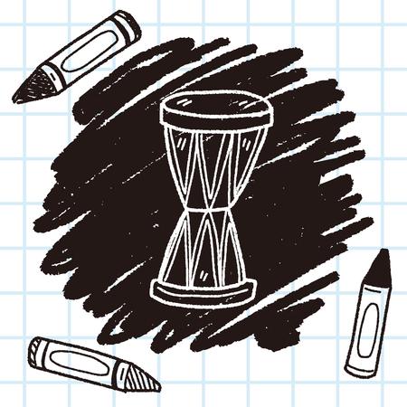 bass drum: drum doodle Illustration