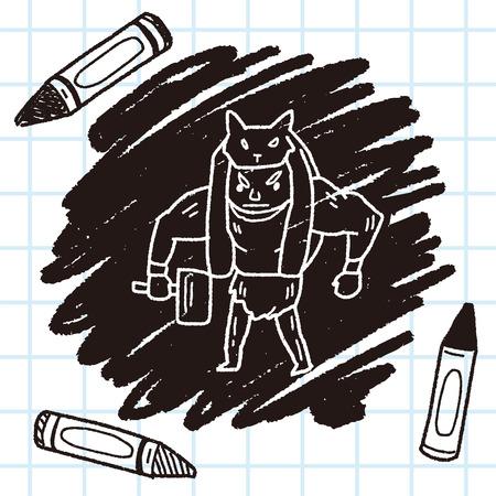 villain: giant ogre doodle