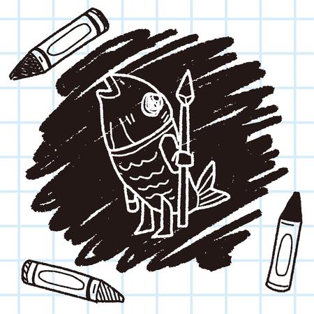 monster doodle Illustration