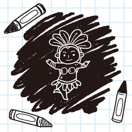 brazil dancer doodle