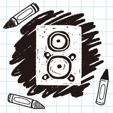 speaker doodle Illustration