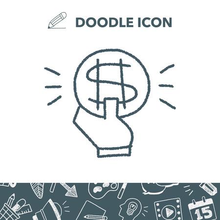 money: doodle money Illustration