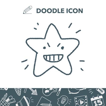 doodle star 向量圖像