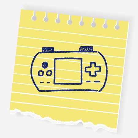 doodle pocket game Illustration