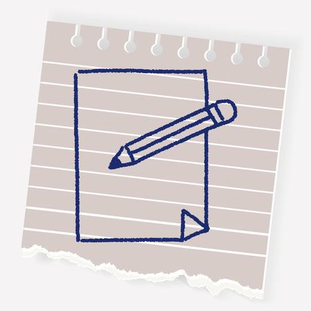 note pad: doodle document Illustration