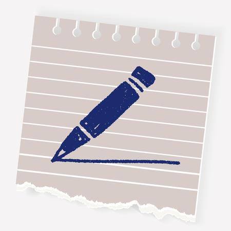 Doodle Pencil Imagens - 74819477