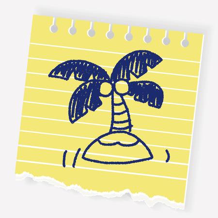 doodle palm