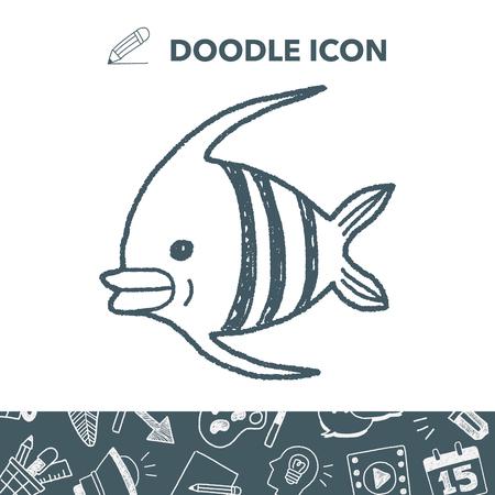 pterophyllum: Doodle Angelfish icon.