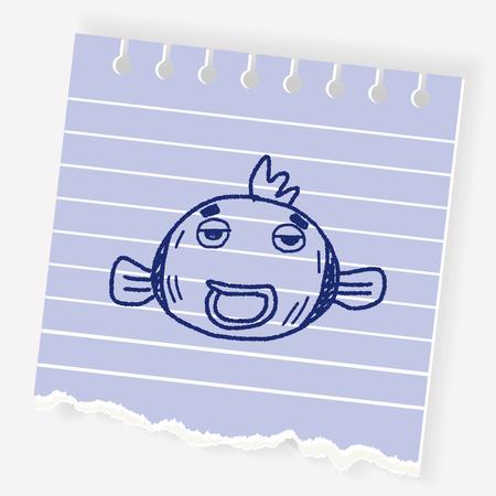 fish tank: Doodle Goldfish