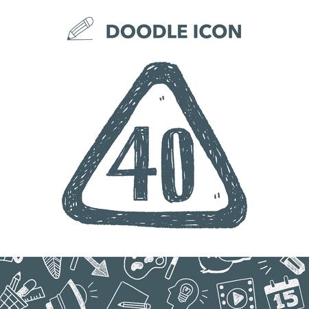 speed limit doodle