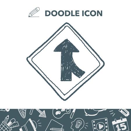 Traffic merges doodle