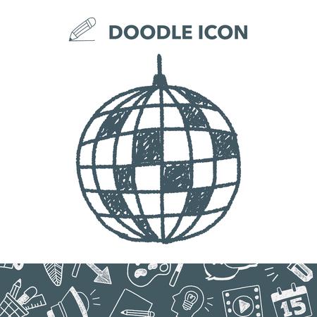 disco ball doodle Illustration